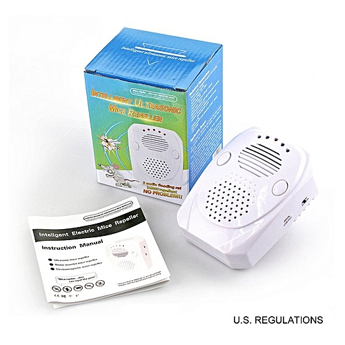 Ultrasonic Pest Repeller Electronic Mouse Repellent white