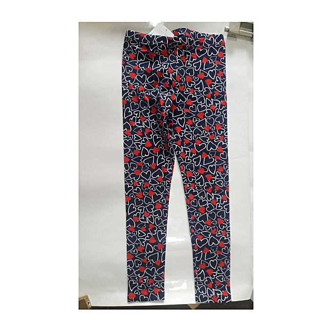 5c2fcc99e5601 Buy Generic Girls' leggings with Heart Shapes - Blue,Red online ...