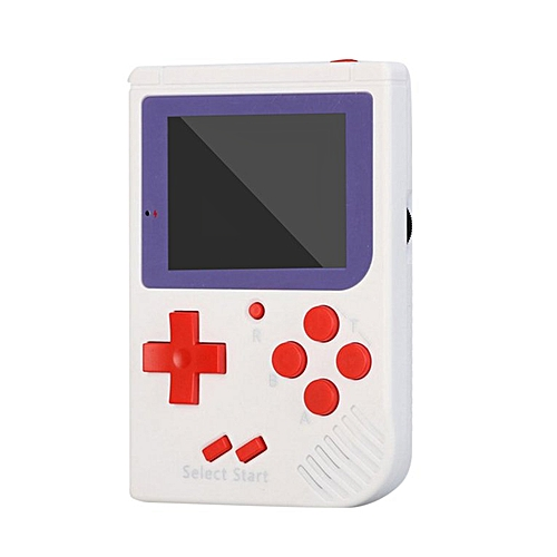 Handheld Game Console Video Game 8 Bit Retro Mini Pocket Built-in 129 Games  white