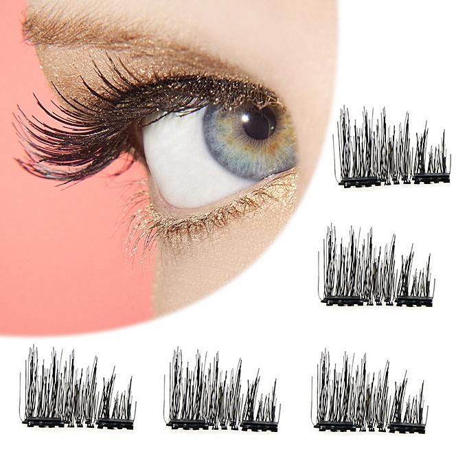 fa95b81fe08 ... Fashion Magnetic Lashes Reusable 3D False Eyelashes Tweezers Set  Eyelashes No Glue Needed Cosmetics Eye Decoration ...
