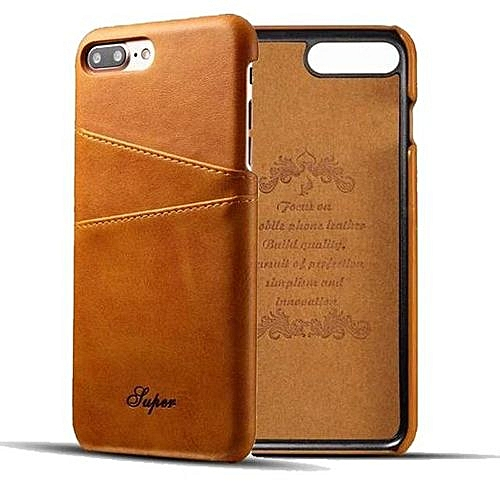 sports shoes d2594 c79cc Phone Case For Apple IPhone 8 Plus Luxury Leather With Card Case IPhone 8  Plus Fitted Cases Mobile Phone Shell Hard Back Cover Cases - Orange