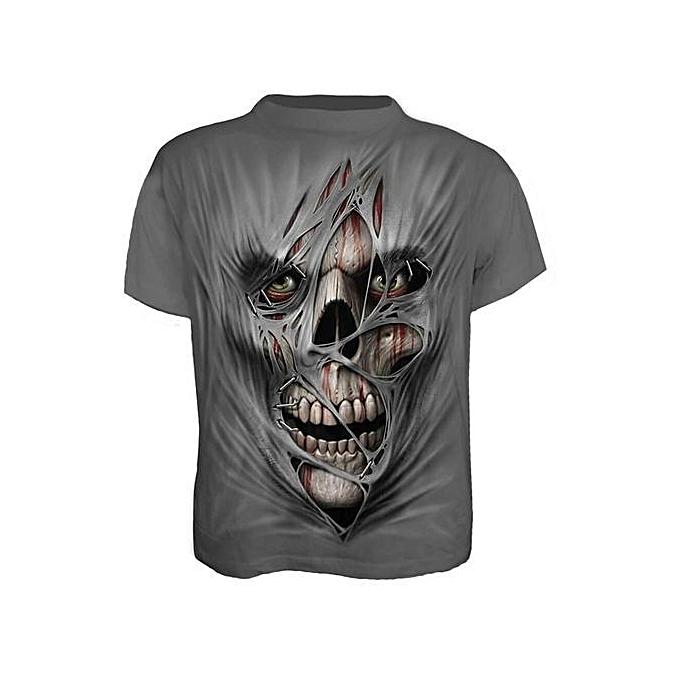 e5cf863e Generic Stylish Broken Design Men 3D Digital Printing Short-sleeved ...