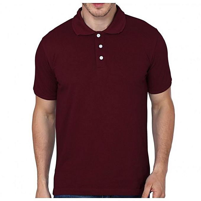 28b20dbb Buy designer Maroon Polo Men's Designer T-Shirt online | Jumia Uganda