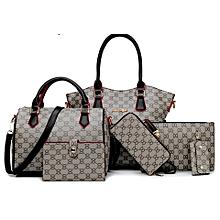 7f6f1cb5b8f1a5 Ladies' Designer Purses And Handbags Set Female Satched Shoulder Bags-  6pcs Clutch