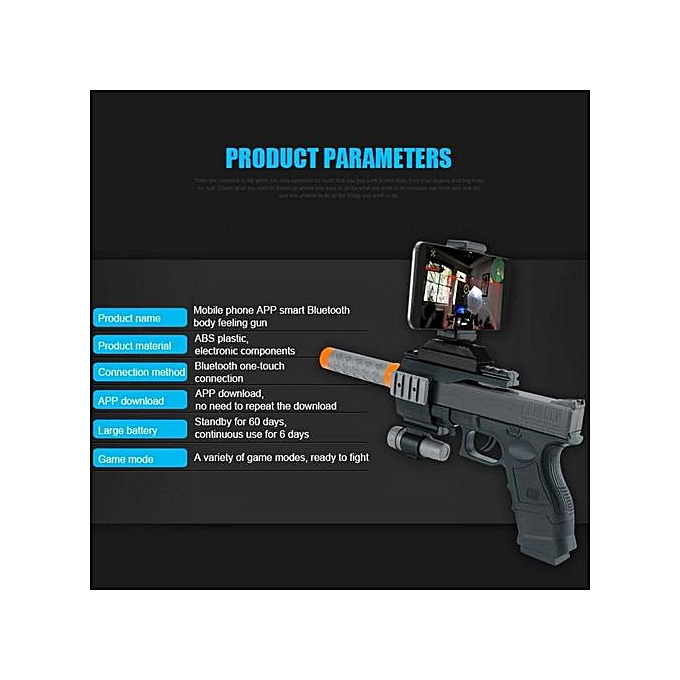 Belle Portable Bluetooth AR Games spear Real Shooting Experience Augmented  Reality Black
