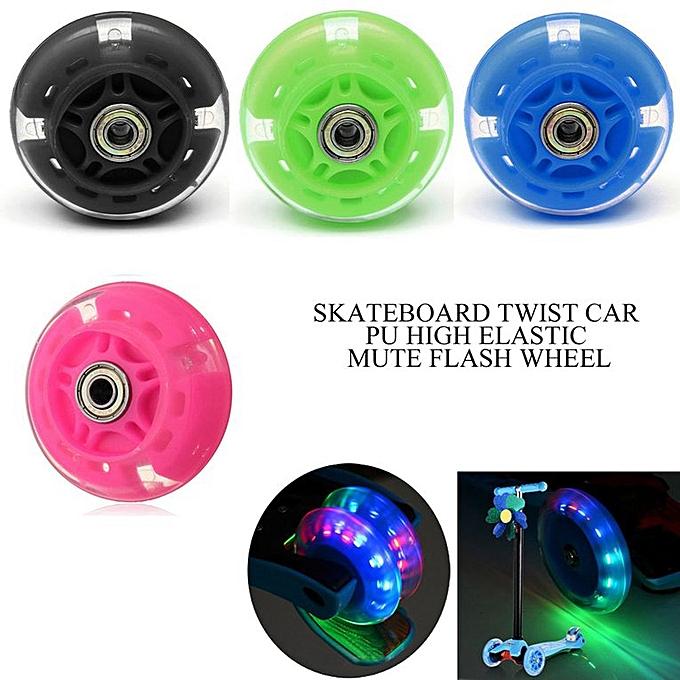 100Mm Led Flash Wheel Mini Or Maxi Micro Scooter Flashing Lights Back Rear  Green