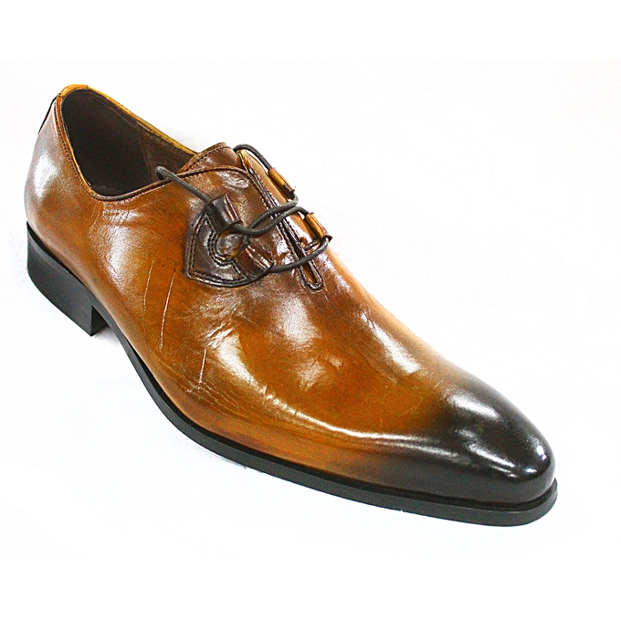 d58b815e53840c Buy Generic Leather Lace-Up Dress Shoes - Brown online | Jumia Uganda