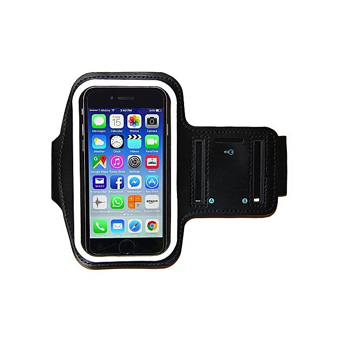 new products 3b60d 966d3 Arm Band, 4.7 Inches Water Resistant Iphone 6 Armband Adjustable Reflective  Velcro Workout Band, Key Holder & Screen Protector - Black