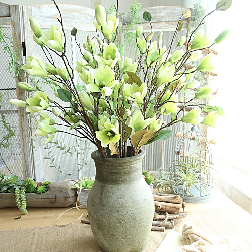 Buy Generic Artificial Fake Flowers Leaf Magnolia Floral Wedding