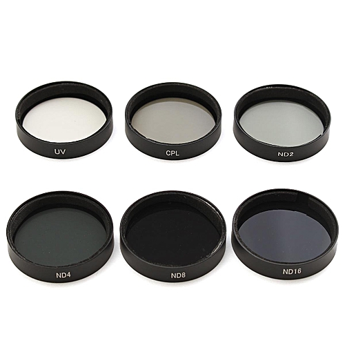 6Pcs ND2 ND4 ND8 ND16 CPL UV Camera Lens Filters W/ Case For DJI Phantom  4/3 HD